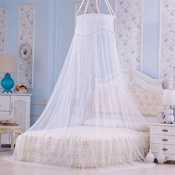 High Quality New House Bedding Decor 1pcs Elegant Round Lace Insect Bed Canopy Netting curtains Dome Mosquito Net