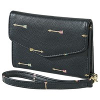 Merona® Arrow Flap Wristlet - Black