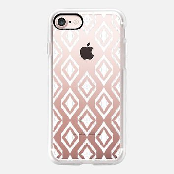 White Tribal Translucent Diamonds iPhone 7 Case by Micklyn Le Feuvre | Casetify