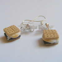 Scented or Unscented Smores Miniature Food Earrings - Miniature Food Jewelry