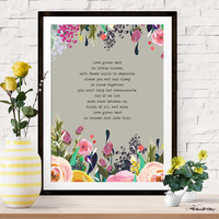 LOVE GROWS BEST IN LITTLE HOUSES Art Print