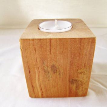 Wood Candle Holder, Candle Holder, Candle Display, Tea light Candle, Block Candle Holders