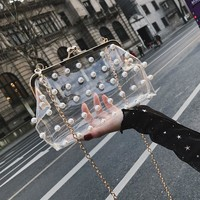 Fashion Pearl Transparent Bag
