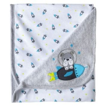Just One You™Made by Carter's® Newborn Boys' Rocket Dog Blanket - Grey/Blue
