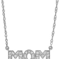 Diamond Mom Pendant Necklace in Sterling Silver (1/5 ct. t.w.)
