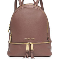 Rhea Small Zip Backpack, Dusty Rose - MICHAEL Michael Kors