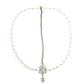 Draping Pearls Chain Headpiece