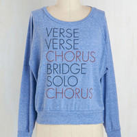 90s Short Length Long Sleeve Songwriter's Assistant Top in Long Sleeve