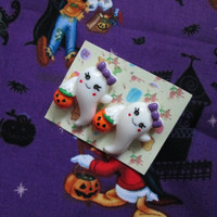 Boo Baby Ghost Trick Or Treat Post Earrings