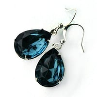 Blue Teardrop Earrings - London Blue Topaz
