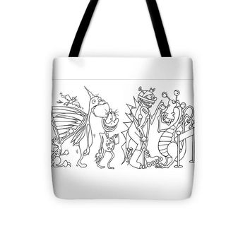 Monster  Queue - Tote Bag