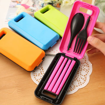 Protable Spoon Chopsticks Fork