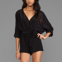 Jay Godfrey Angie Romper in Black