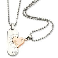 Be My Sweet Love Couples Necklace: Jewelry: Amazon.com