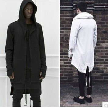 Hoodies Men/women Hooded Cloak Plus Long Shawl Double Coat-Coat Assassins Creed Jacket Streetwear Oversize
