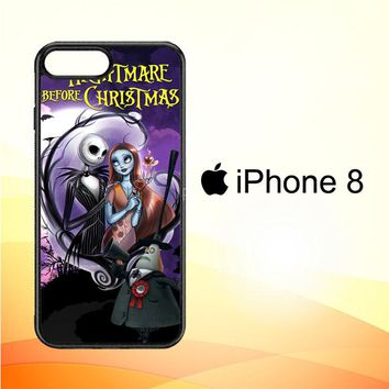Jack And Sally Muertitos The Nightmare Before Christmas C0092 iPhone 8 Case