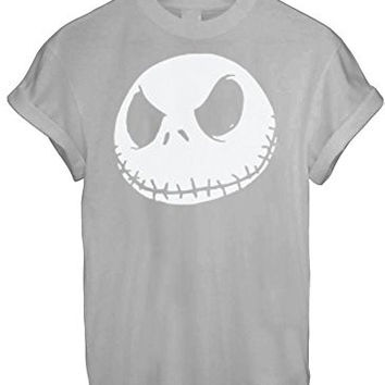 Jack Jumbo Face Head Nightmare Before Christmas White Grey BLACK - Grey