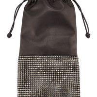 Alexander Wang Ryan Crystal-Studded Drawstring Pouch Bag