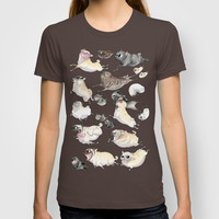 Pugs on the Run! T-shirt by InkPug   Society6