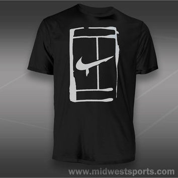 Nike Mens Tennis T-Shirt, Nike Court Logo T-Shirt 543607-010, Midwest Sports
