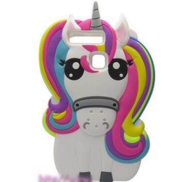 Unicorn Cell Phone Case in Cute Anime Rainbow Mane for iPhone 7, 7 Plus, 6, 6 Plus, 5 and 5S