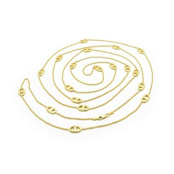 "Mariner Gold Chain Necklace: 58"" Long by Fronay Collection"