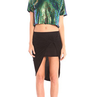 IRIDESCENT SEQUIN BOXY CROP TOP