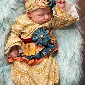 2018 Fall Haute Baby Harvest Time Infant Take Me Home Gown Pre-Order