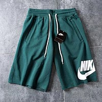 Nike Popular Men Women Casual Sports Running Shorts Green