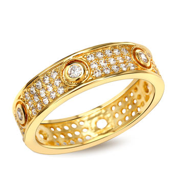 Rings for men gold plated with Cubic zirconia luxury Rings tungsten ring lord of rings Free shipping fashion jewelry