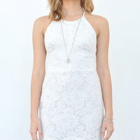 Dream On White Lace Bodycon Dress