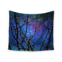 "Sylvia Cook ""Holiday Lights"" Christmas Wall Tapestry"