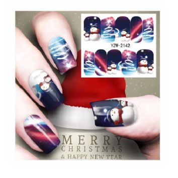 New 3*Pcs Nail Care Manicure Art Christmas Water Transfer decal (Free Shipping)