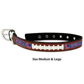 Chenier Ole Miss Rebels Classic Leather Football Collar
