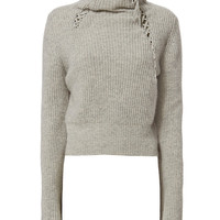 Derek Lam 10 Crosby Lace-Up Detail Turtleneck - INTERMIX®