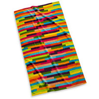 Pixelated Stripe Beach Towel