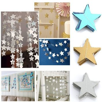 Star Paper Garland Banner Bunting Drop Baby Shower Wedding Party Decoration