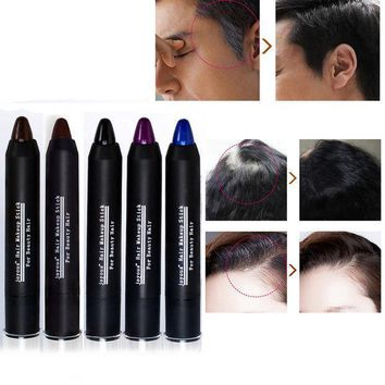 ICIK272 5 color Temporary Hair Dye Brand Hair Color Chalk Crayons Paint Hair Care Black/Dark/brown/Coffee/purple Men and women M02253