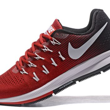 NIKE fashion casual breathable running shoes Wine red black