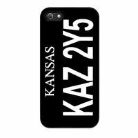 Supernatural Winchester Impala Kansas License Plate iPhone 5s Case