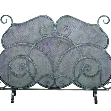 Dessau Home Pewter Firescreen W/Mesh Screen - Me2207