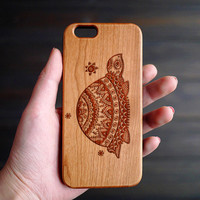 Tortoise Totem Wood iPhone Case