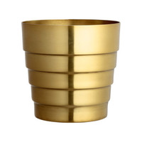 H&M Pot in Brushed Metal $17.99