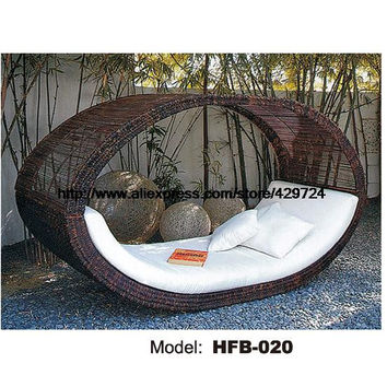 Bird's Nest Design Creative Rattan Sofa Bed Leisure Lying Lounge Chair Garden Beach Swimming Pool Chair bed Sofa Furniture