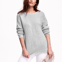 Old Navy Textured Boatneck Sweater
