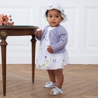Absorba Babies White Floral Body and Dress Overlay | AlexandAlexa