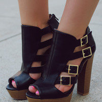 Along the Way Heel - Black