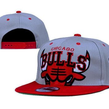 PEAPON Chicago Bulls NBA 9FIFTY Cap Grey-Red
