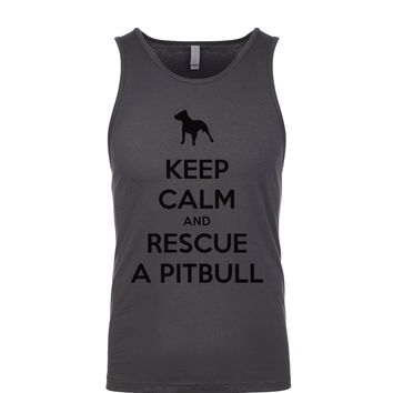 Keep Calm And Rescue A Pitbull  Men's Tank
