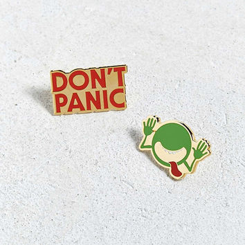 Out Of Print Hitchhiker's Guide To The Galaxy Pin Set | Urban Outfitters
